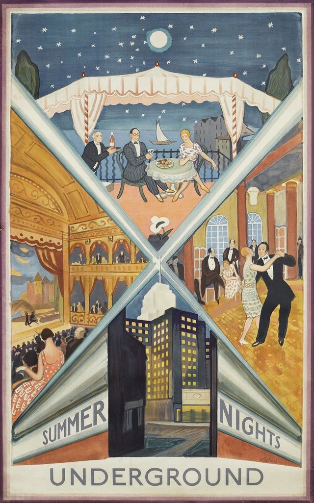 A 1930s poster advertising the London Underground.