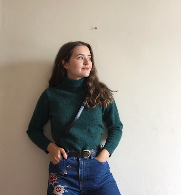 Eliza Cambell The Attic on Eighth How to Dress When Harry Met Sally Green Turtleneck Jumper.JPG