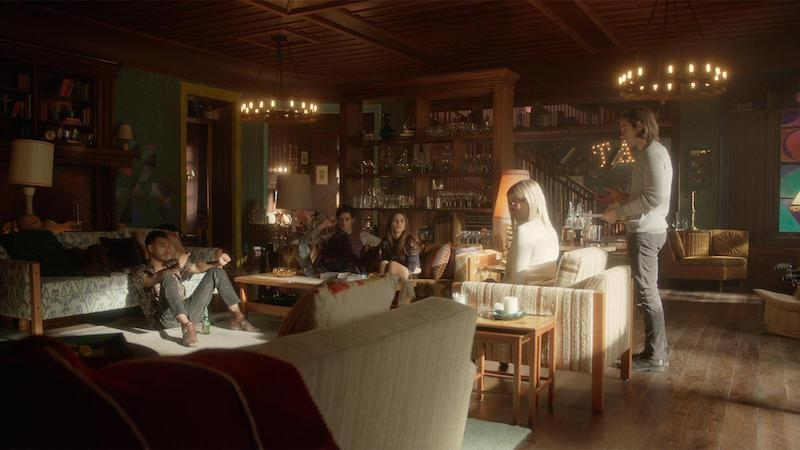 Still from The Magicians, featuring the eccentric cottage where students reside during their studies.