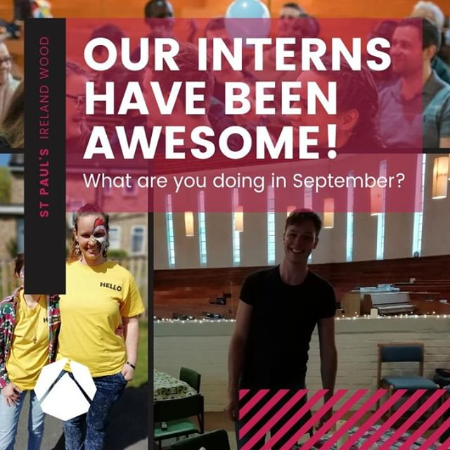 Thank you so much to our interns Shelly & Andreas, you've been awesome!⁠ ⁠ Fancy doing the same?⁠ Come and join us to take a year to serve, grow and develop in faith and leadership. ⁠ ⁠ There will be opportunities to train and serve in: preaching and leading, worship, children and youth ministry, mission and evangelism, admin and operations and pastoral care. ⁠ ⁠ Get in touch to find out more either by email - hello@stpaulsirelandwood.org or drop us a DM.⁠ ⁠ #stpaulsirelandwood #churchofengland #leedscofe #gapyear #intern #churchintern⁠
