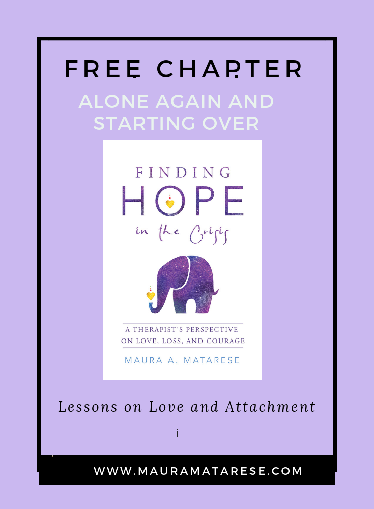 CUrious about your attachment style? - Enjoy this free download from my bookFinding Hope in the Crisis: A Therapist's Perspective on Love, loss, and Courage.Understanding your relationship challenges largely depends upon how well you understand your attachment style, which I call your