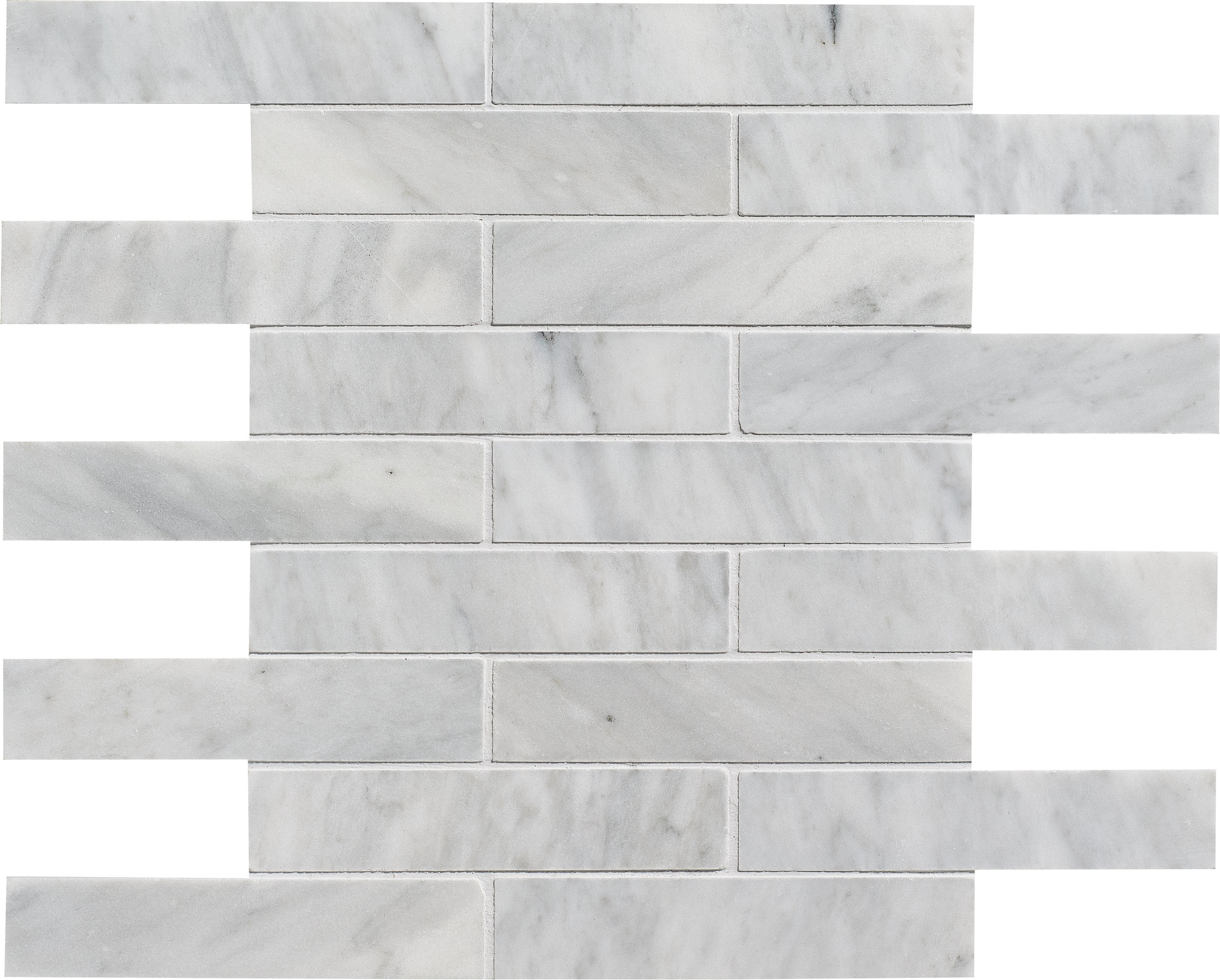 "MS01161 avenza modern honed staggered mosaic 1 1/4""x6"" 12""x12""x3/8"" sheets"