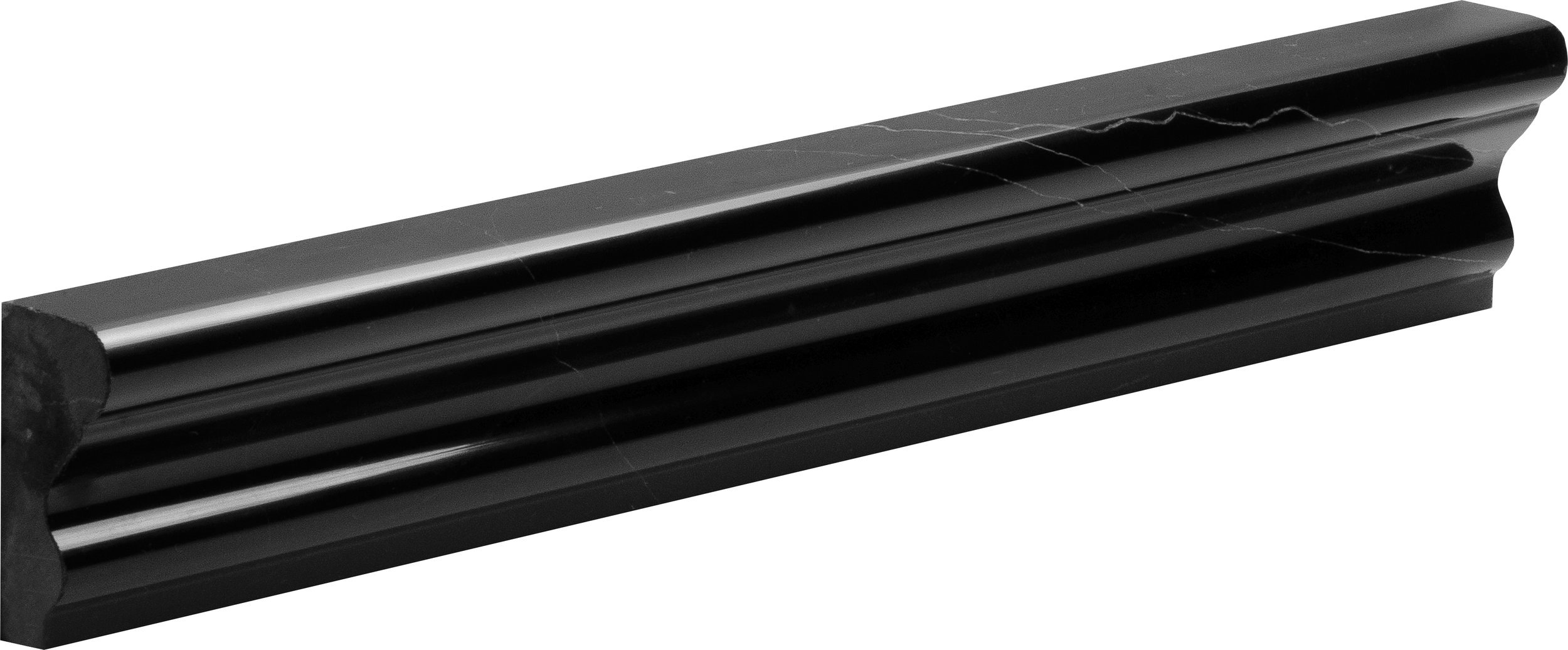 "ML00521 black polished andorra molding 2""x12""x1"""