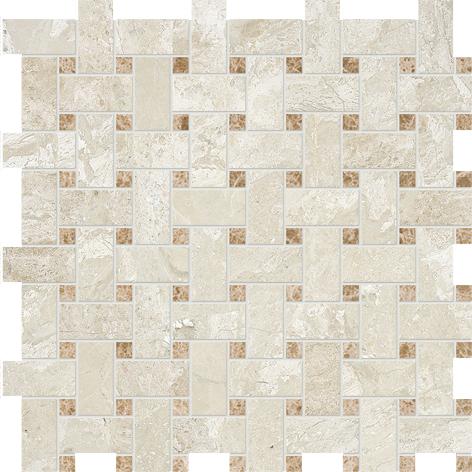 "MS00788 diana royal & paradise polished basket weave 1""x2"" 12""x12""x3/8"" sheets"
