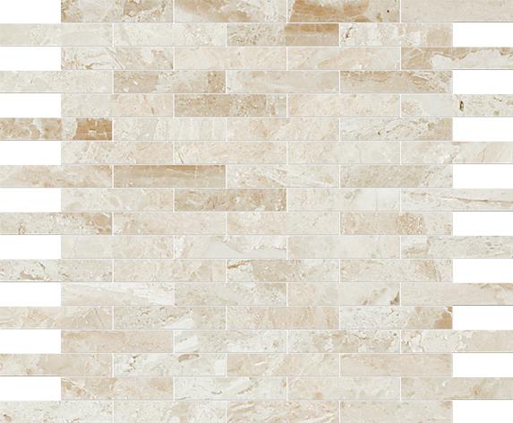"MS01173 diana royal modern polished staggered mosaic 5/8""x3"" 12""x12""x3/8"" sheets"