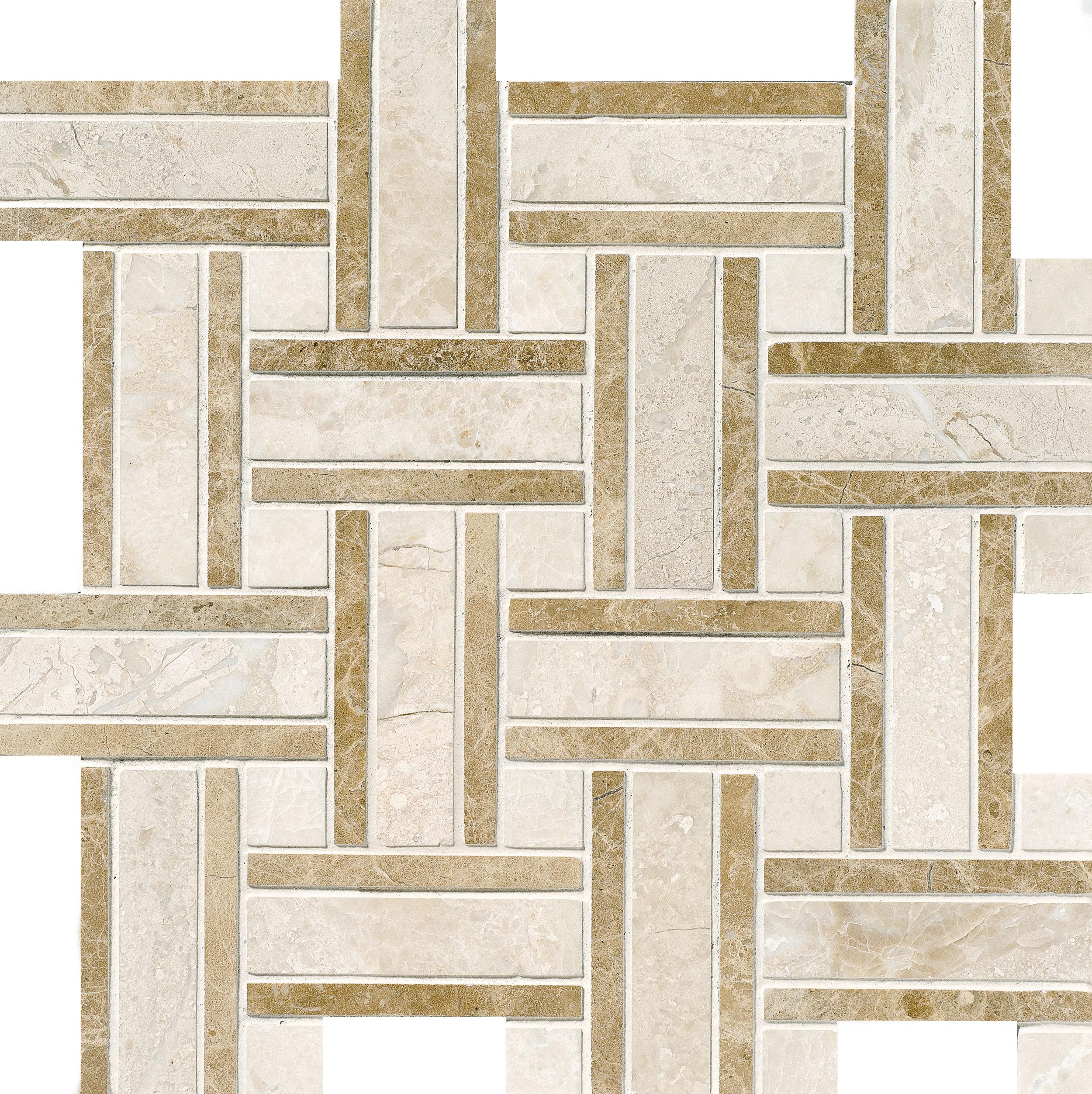 "MS01174 diana royal modern polished lattice mosaic 12""x12""x3/8"" sheets"