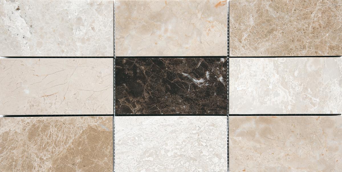 "MS01185 milano dark polished 2 3/4""x5 1/2"" mesh mounted subway tile mosaic 8 7/16""x16 11/16""x3/8"" sheets"