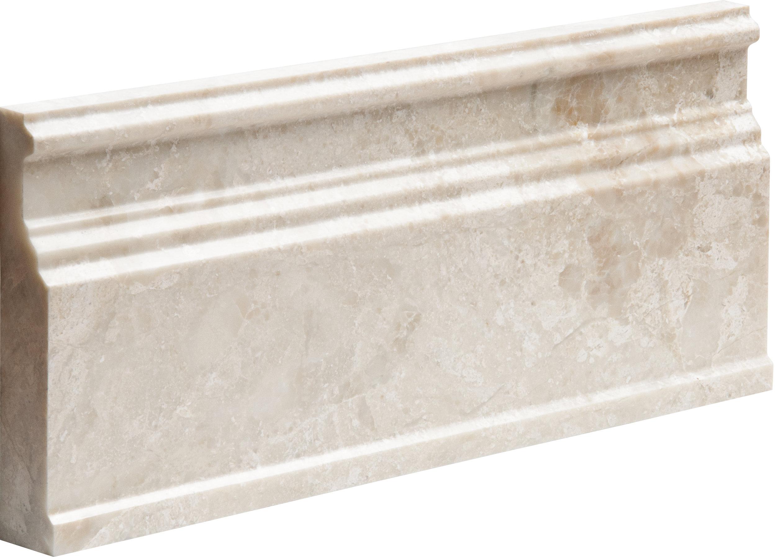 "ML00720 diana royal polished modern base molding 5 1/16""x12""x15/16"""