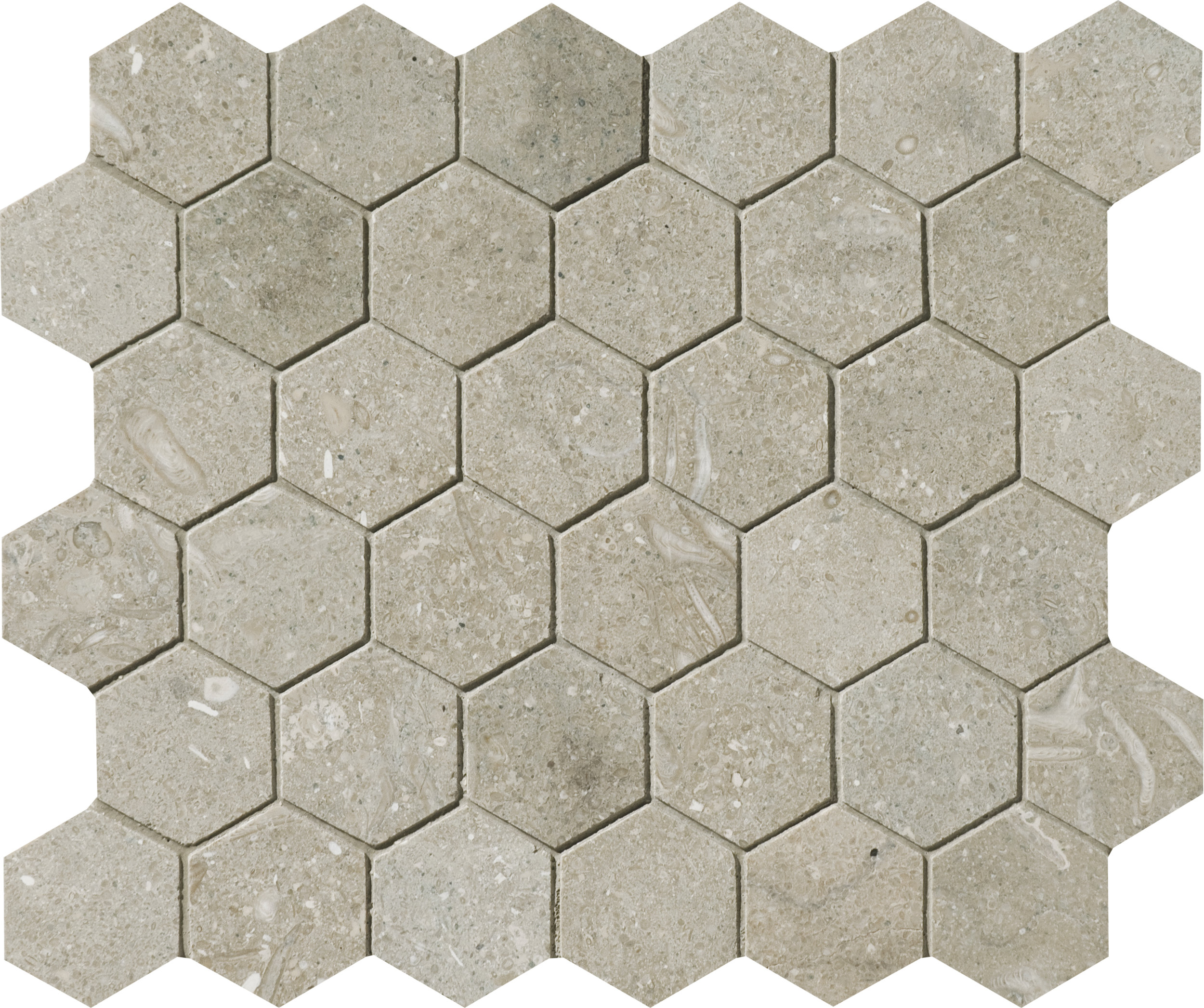 """MS00862 olive green honed hexagon 2"""" 10 3/8""""x12x3/8"""" sheets"""