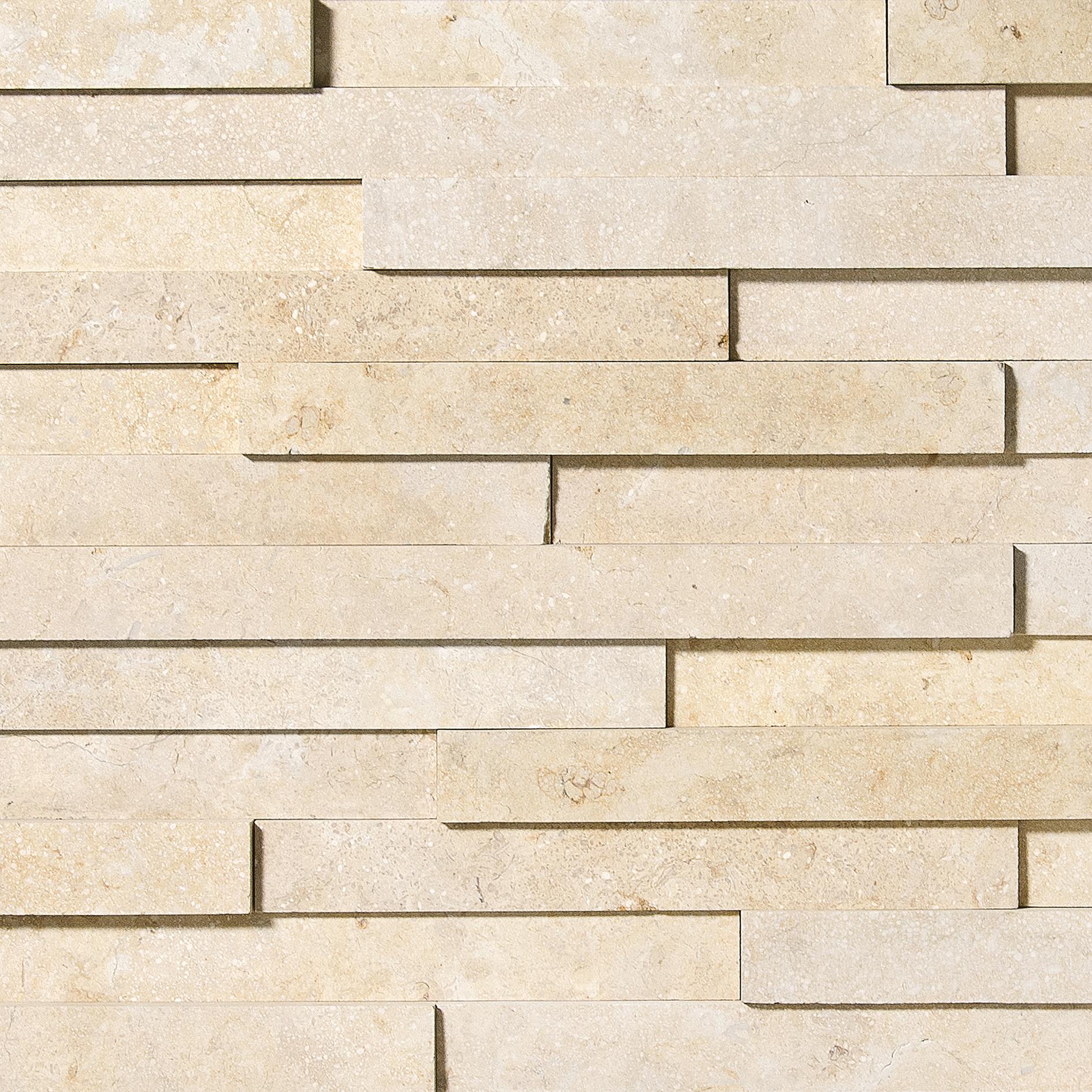 seashell honed limestone (wall tile) TL16137 seashell honed elevation pattern
