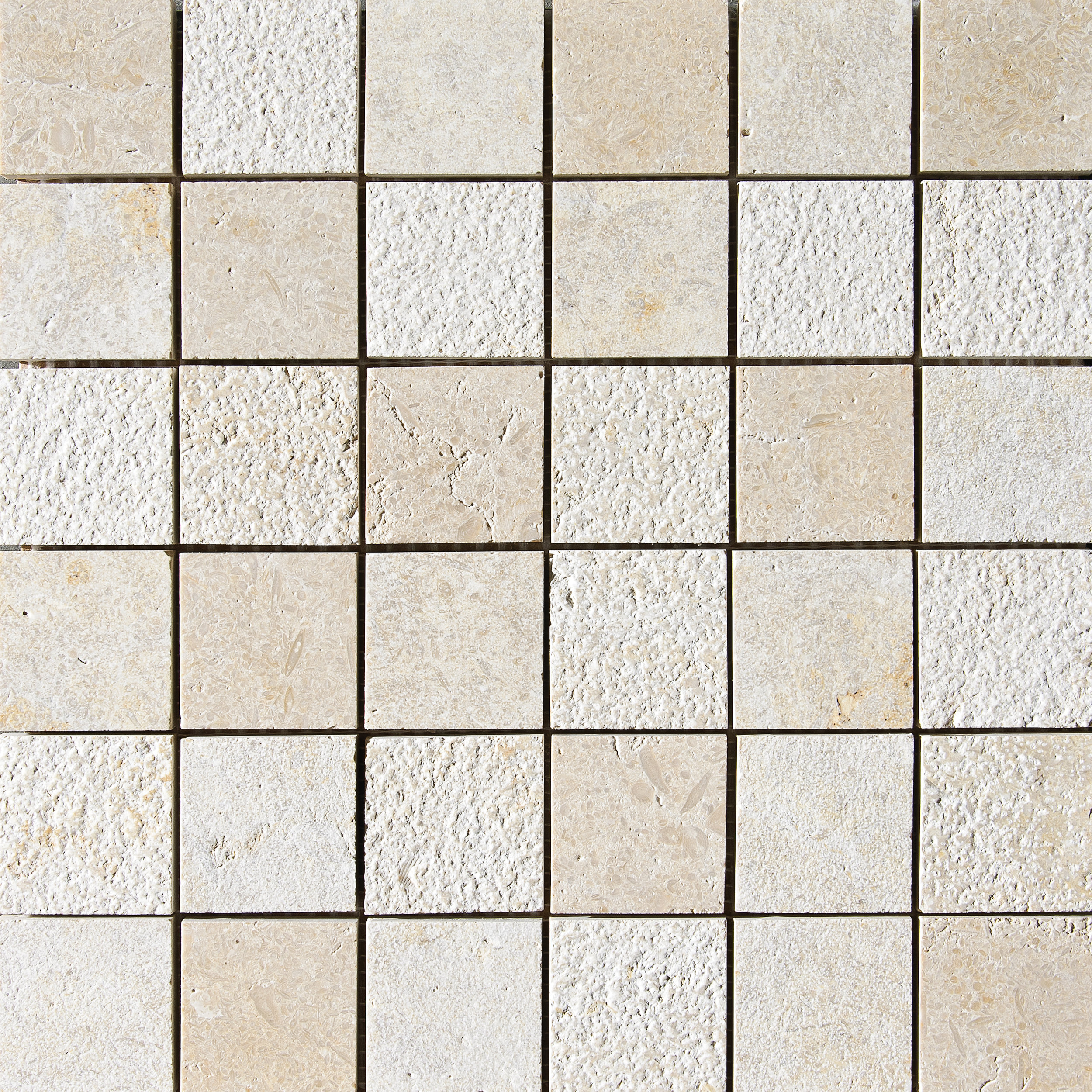 "MS01307 seashell 2""x2"" textured mosaic 12""x12""x3/8"" sheets"