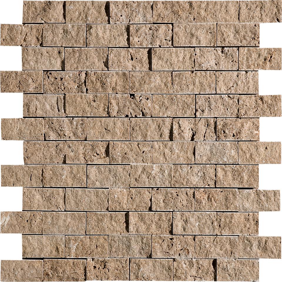 """MS00602 walnut dark rock face 1""""x2"""" 12 5/8""""x12 5/8"""" sheets"""