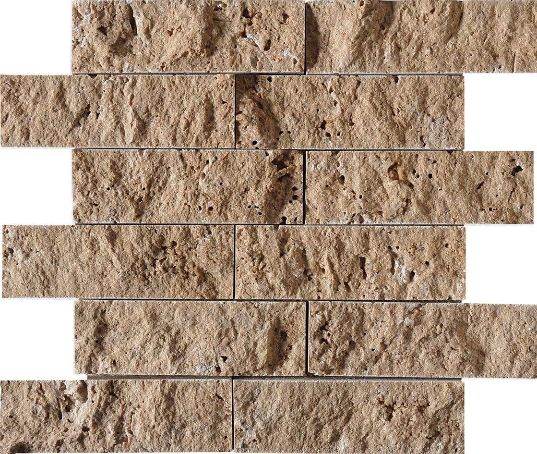 """MS00608 walnut dark rock face 2""""x6"""" 12""""x14"""" sheets"""