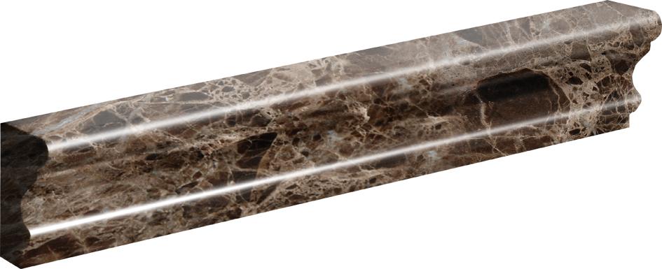 "ML90027 emperador dark polished andorra molding 2""x12""x1"""