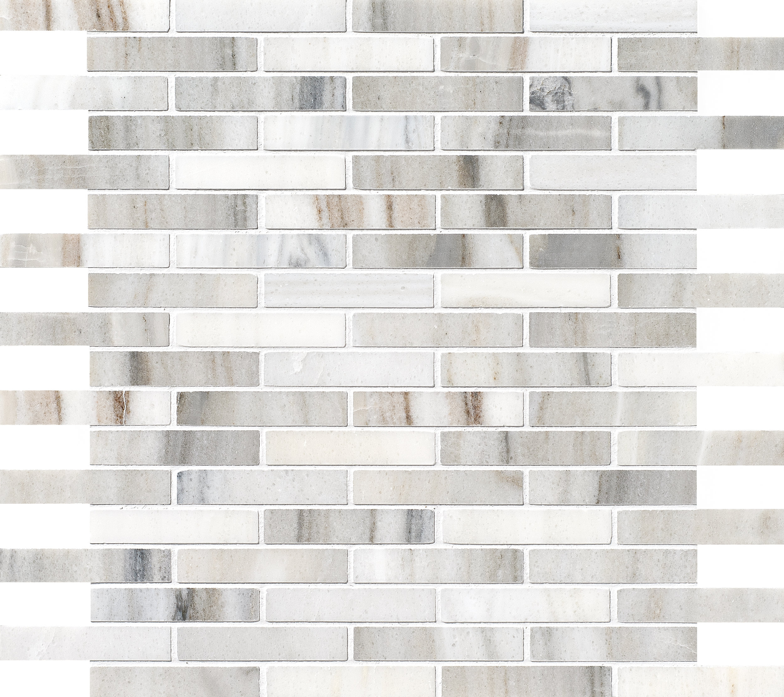 """MS01155 skyline modern polished staggered mosaic 5/8""""x3"""" 12""""x12""""x3/8"""" sheets"""
