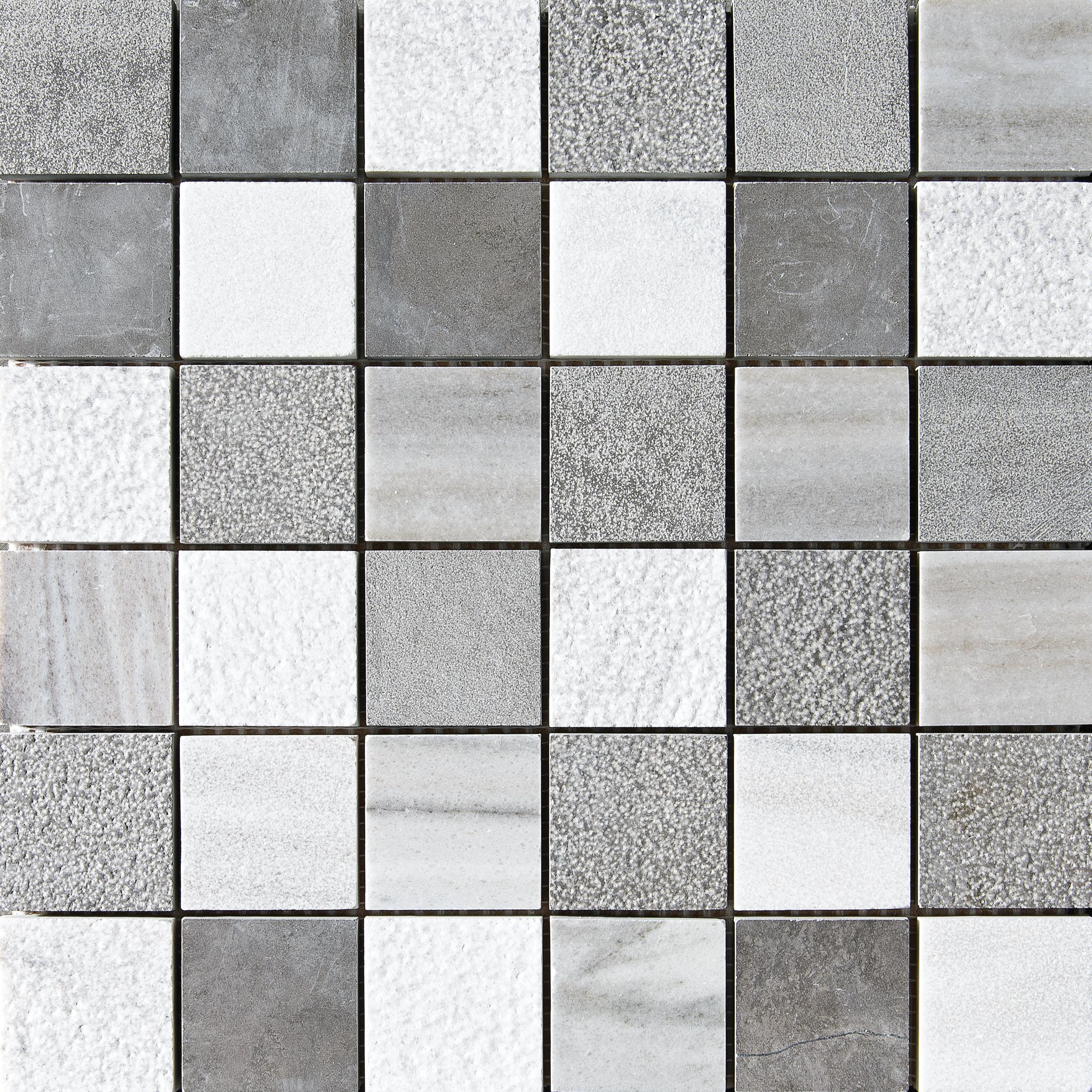 "MS01309 skyline & bosphorus 2""x2"" textured mosaic 12""x12""x3/8"" sheets"