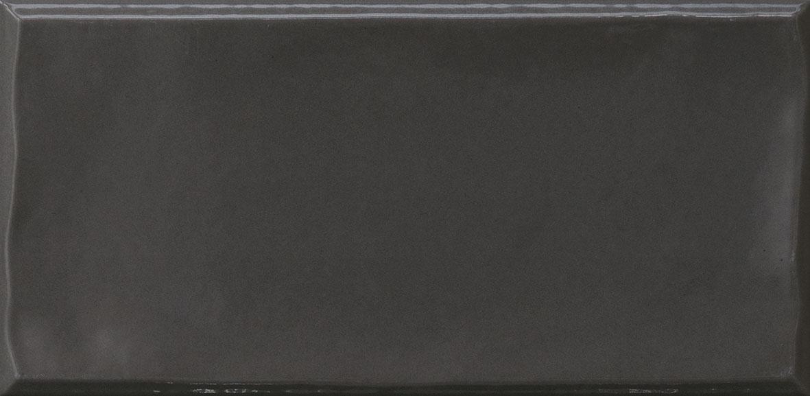 """5"""" x 10"""" Black Majolica Field Tile"""