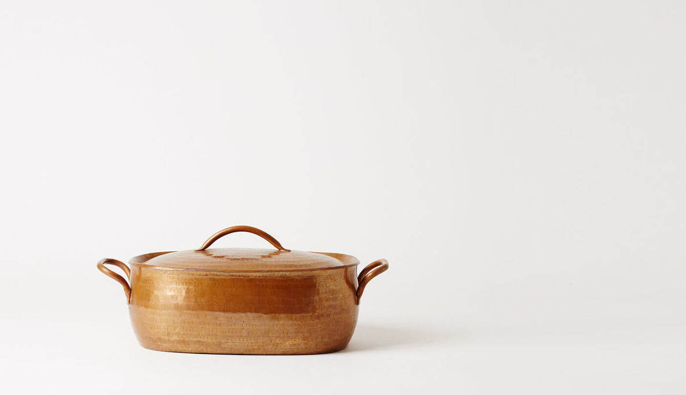 copper oval pan