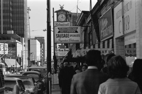 Robson Street, Vancouver, 1970.