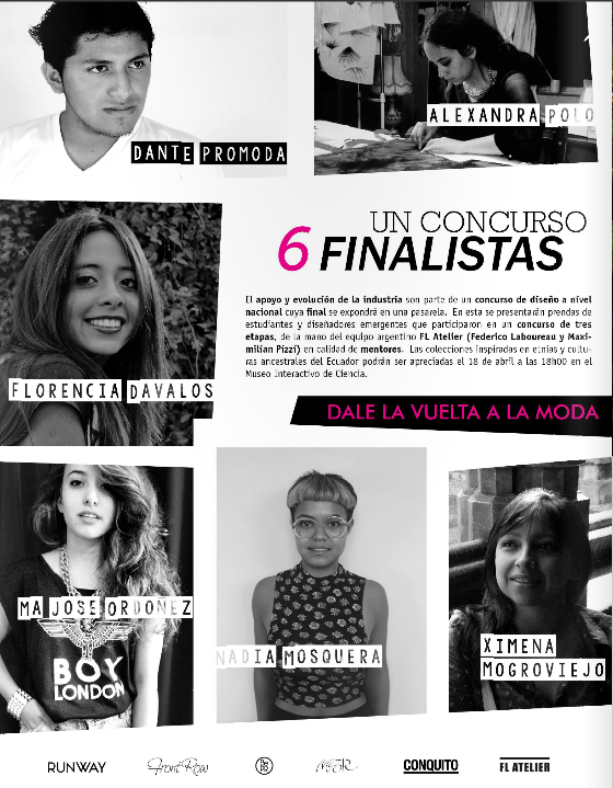 1 Contest, 6 Finalists  Runway, 2015