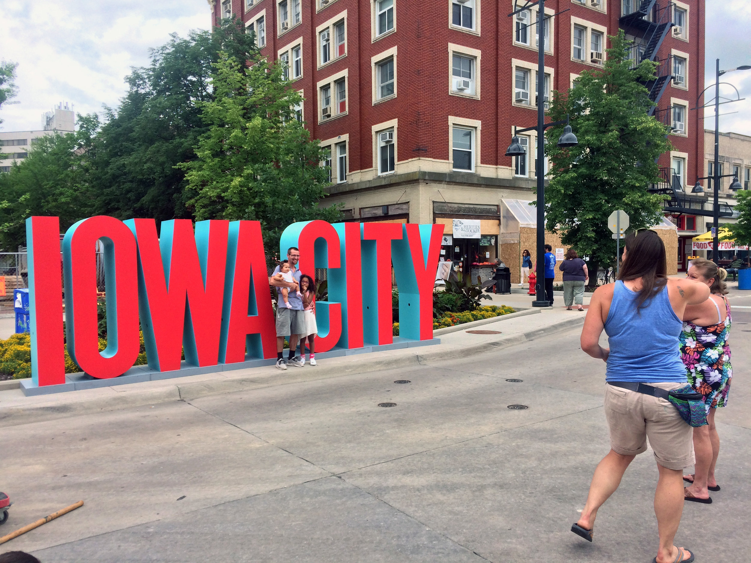 Iowa City letters built for the Iowa City Downtown Block Party in 2018.