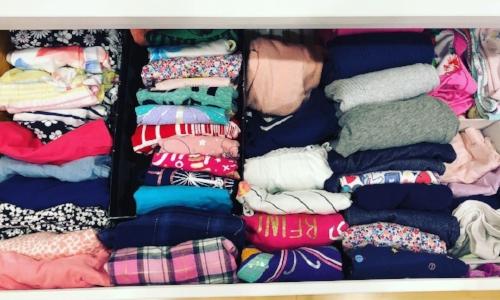 kids laundry- file folded