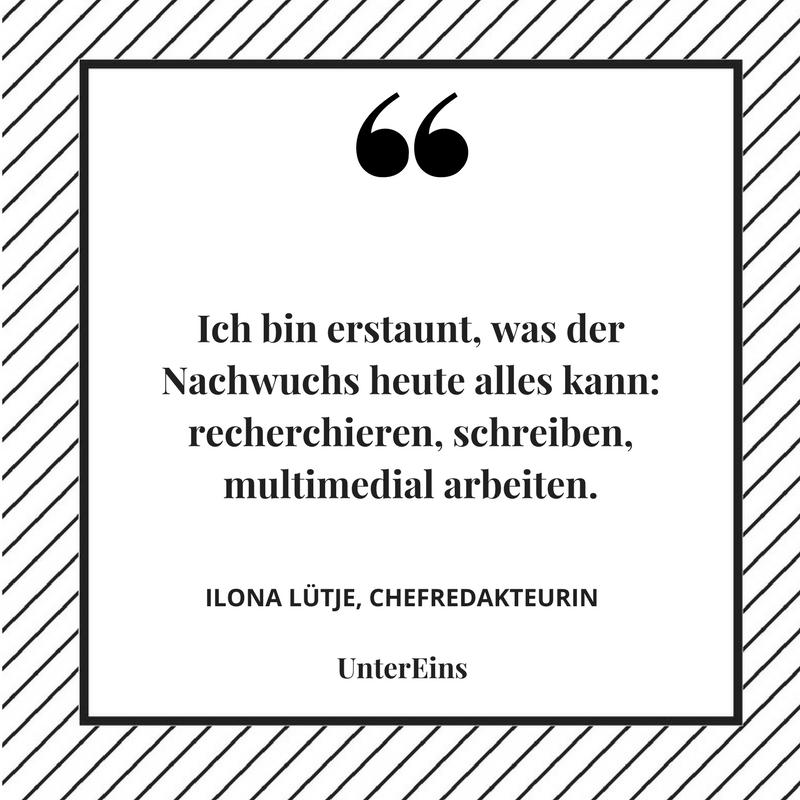 Junge Journalisten Ilona Lütje