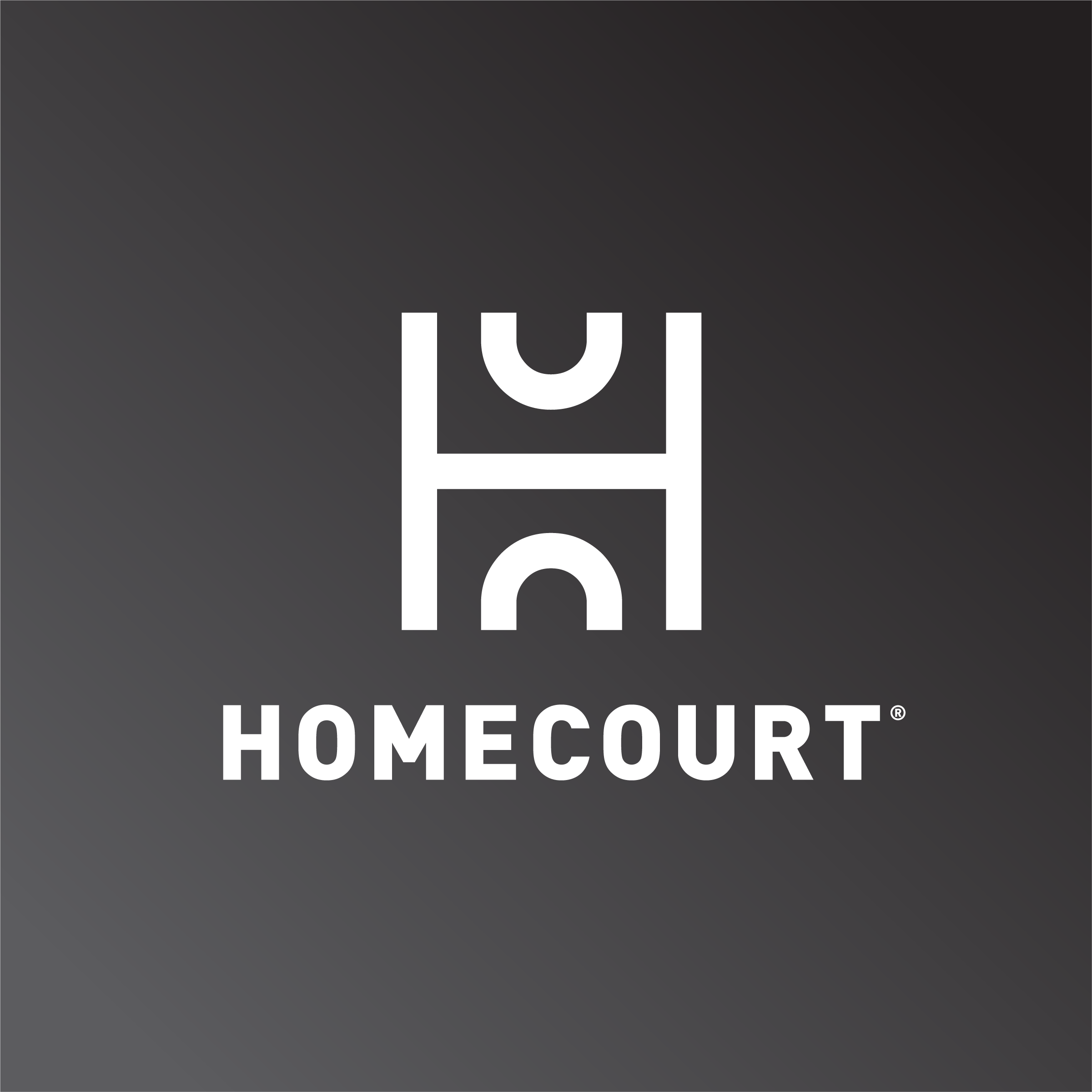 Avoid using HomeCourt logo on a gradient background.