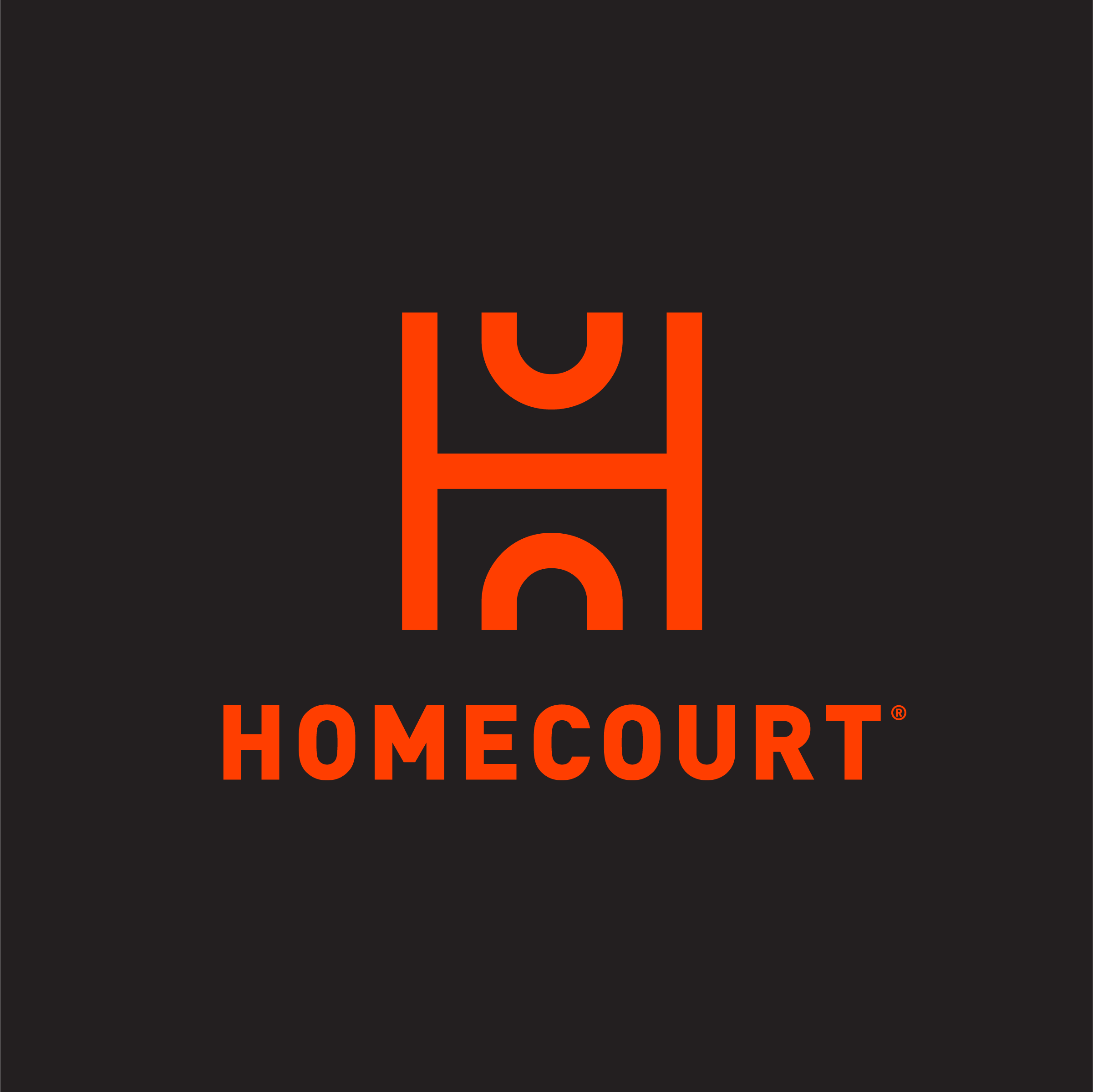 Avoid using HomeCourt Orange on a dark background.