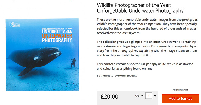 Collection of underwater images from the Natural History Museum