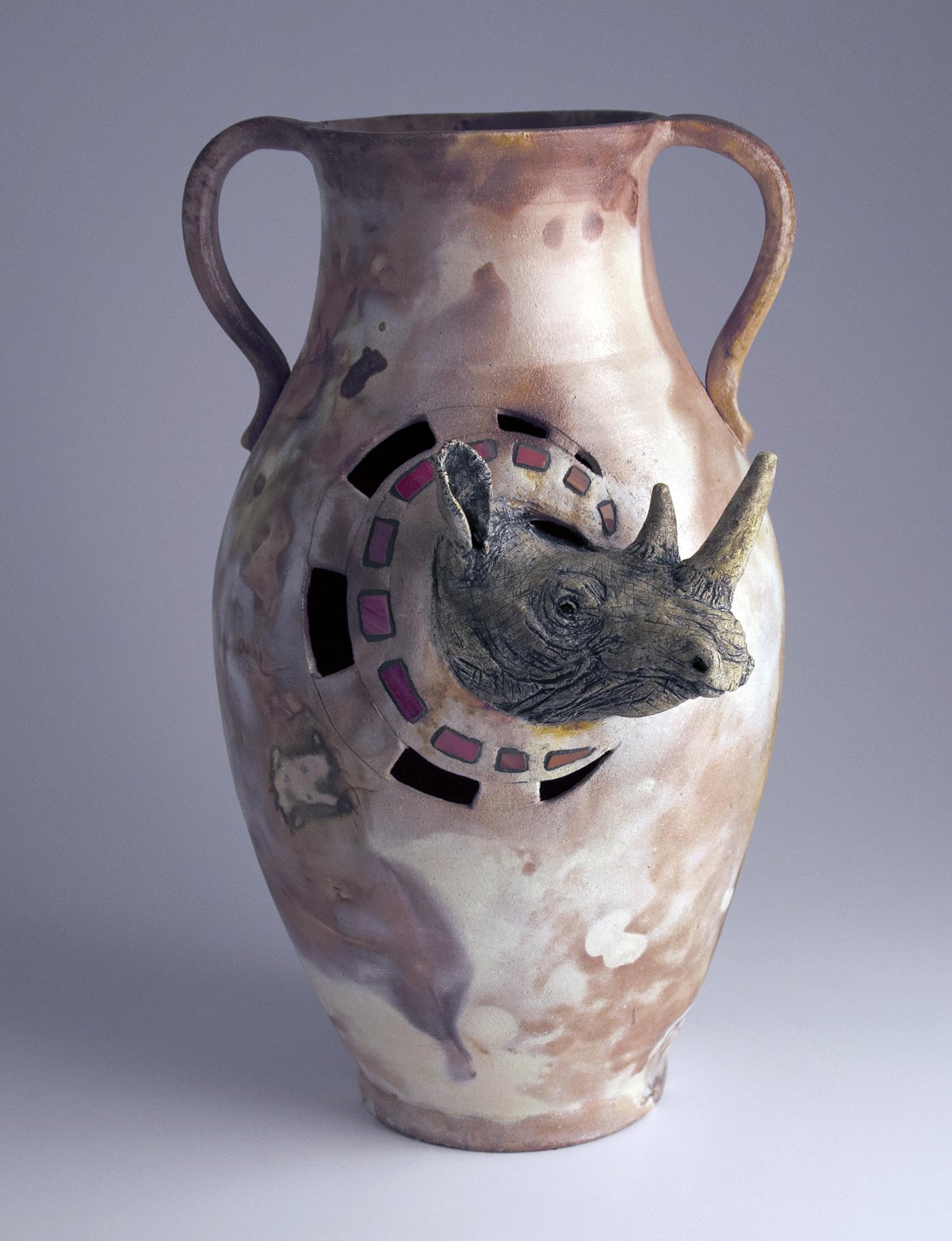 saggar rhino vase
