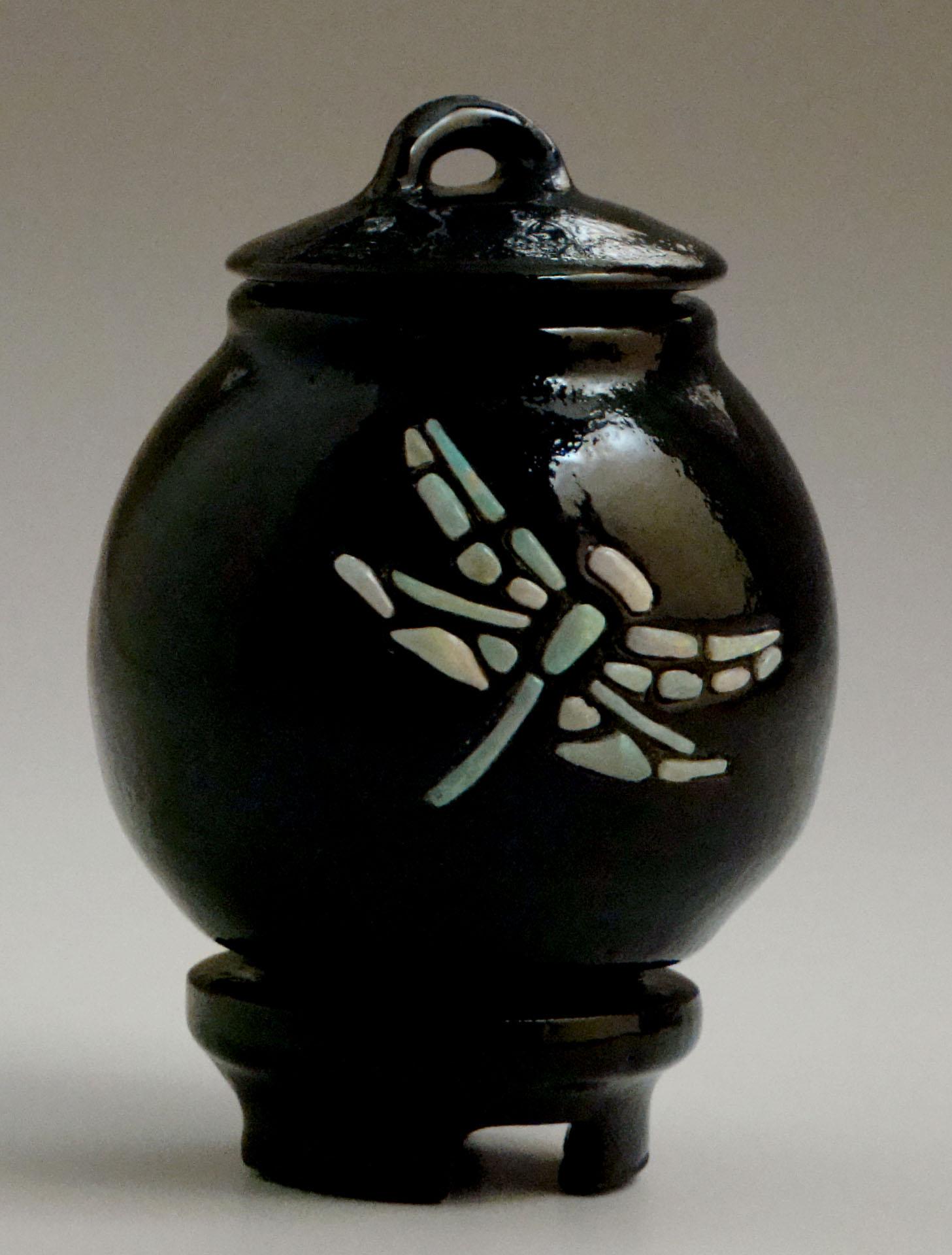 Opal Dragonfly Vase