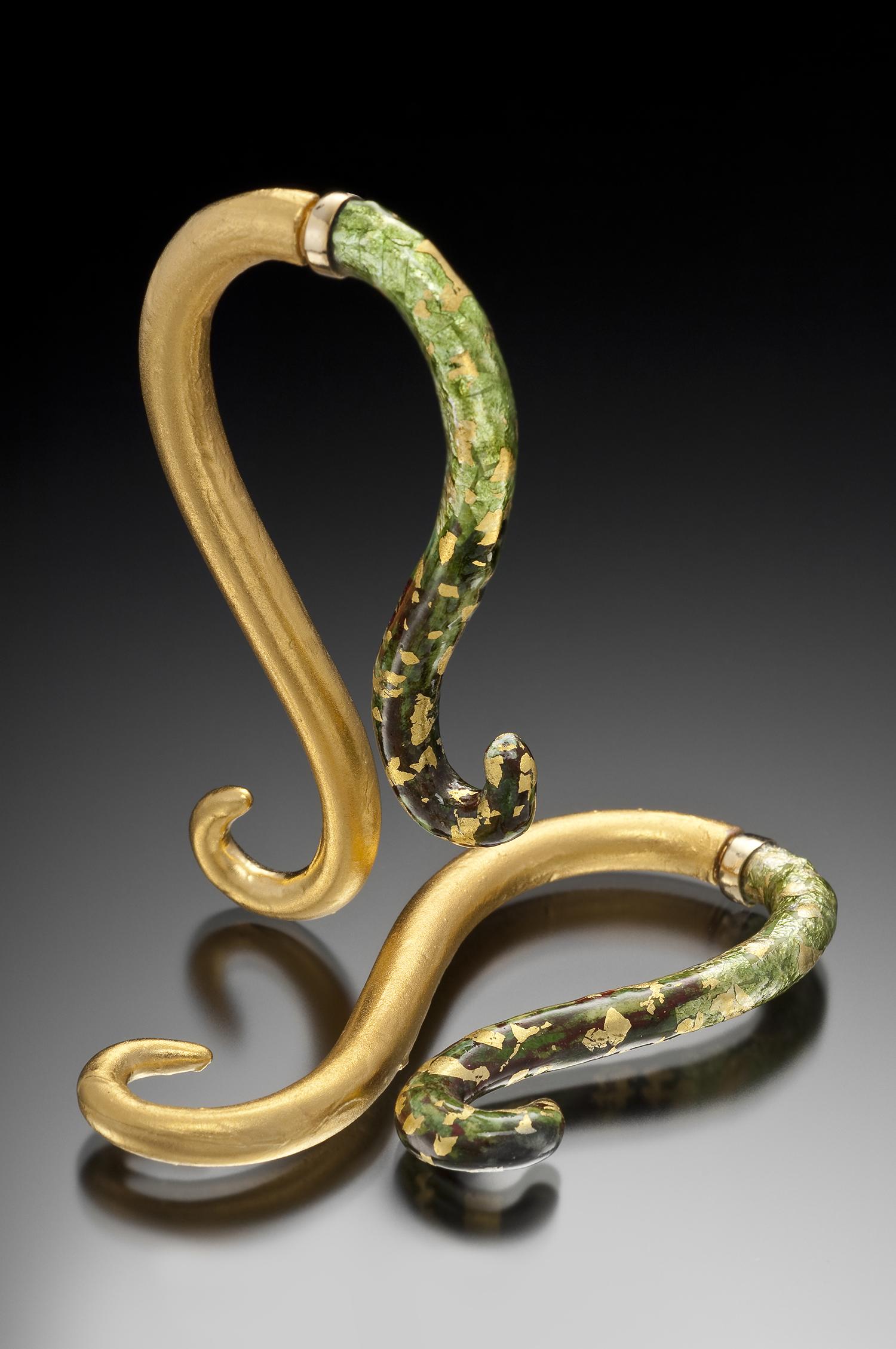 """""""Regal Large Swirl"""" Earrings"""