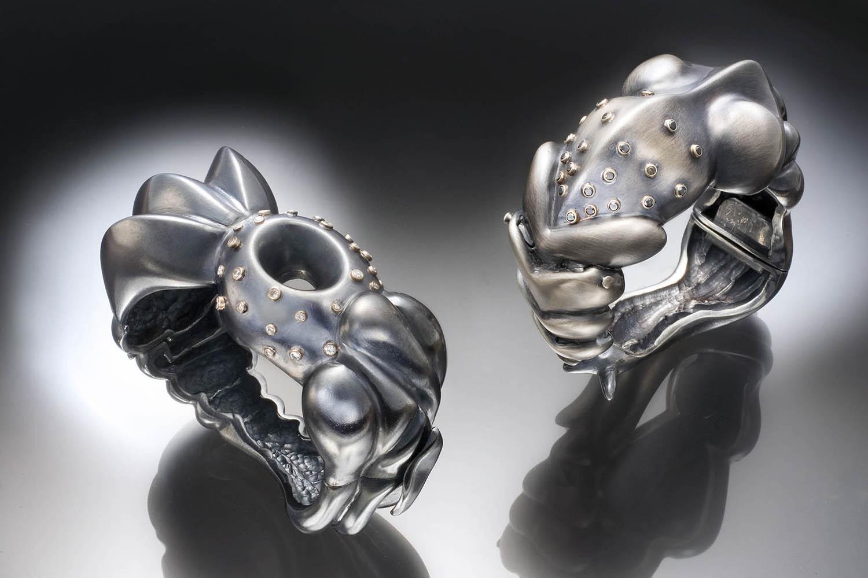Kroiz Shana jewelry Black and White diamond Bracelets.jpg