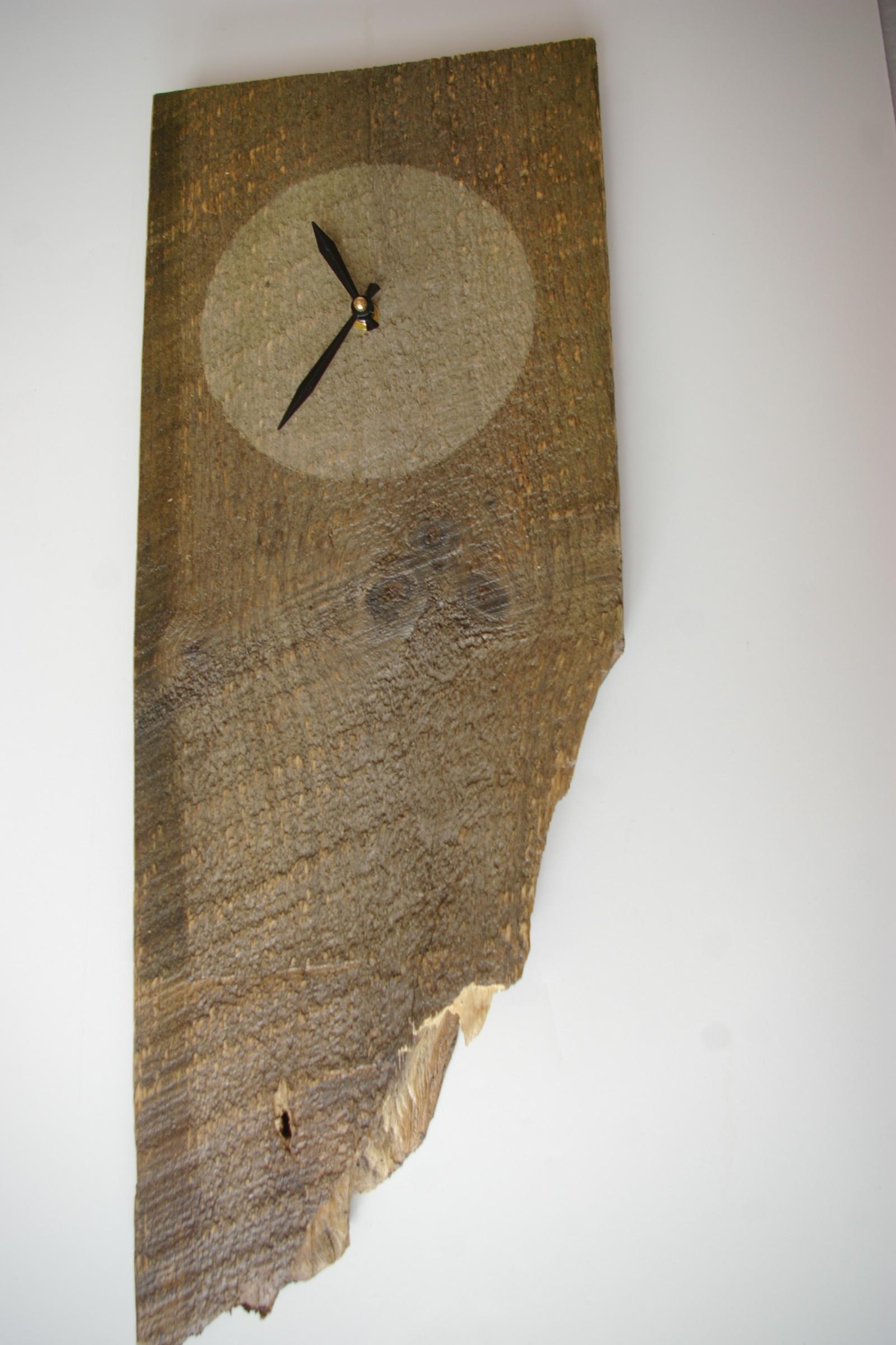 Wall Clock $40 - #503 Reclaimed barn board wall clock, 23