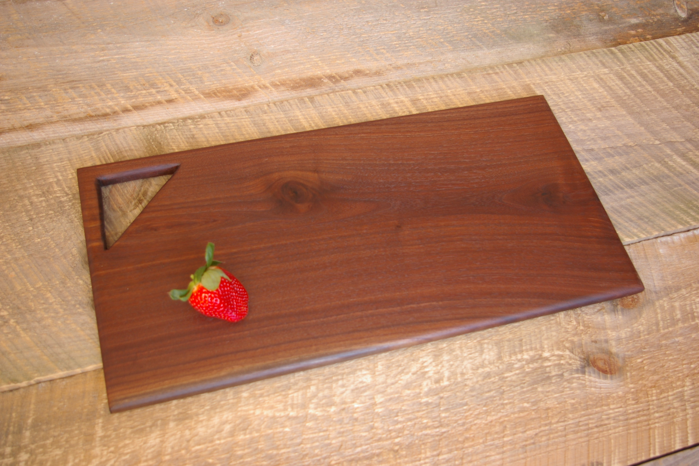 - Black walnut cutting board