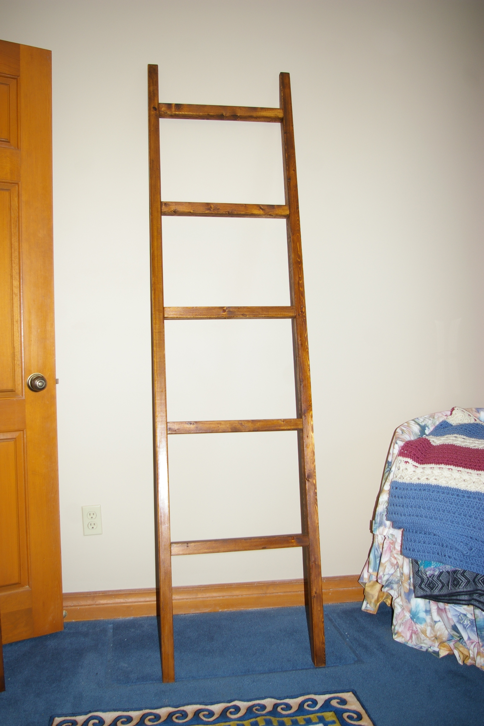Blanket Ladder, stained