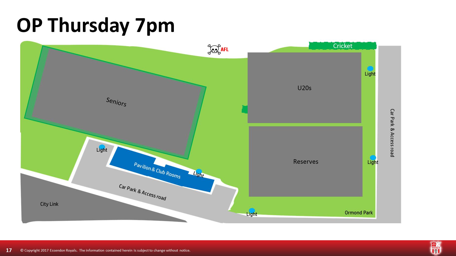 Thursday 7pm Ormond Park