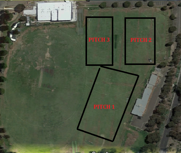 Ormond Park Pitch Layout