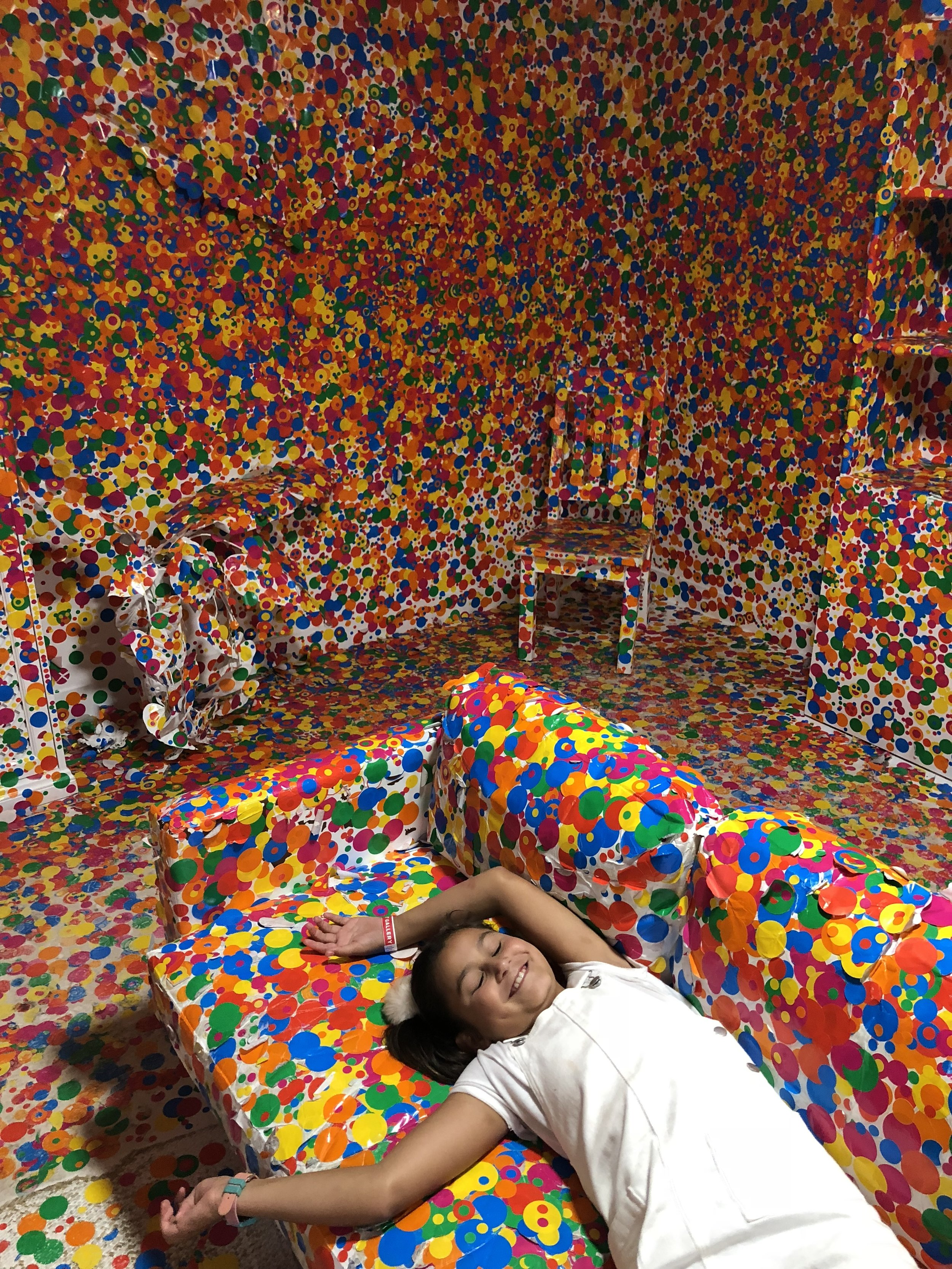 Yayoi Kusama: The Obliteration Room. - I was determined to get the kids to this exhibition. Colour. Dots. Kinesthetic, visual and interpersonal learning. Yasss. The hype was real.