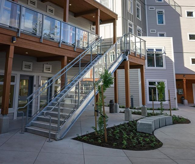 When I was younger and at school I used to slide down railings like these.  Now I just design and build them.  Brookes Westshore School in Victoria, BC. . . .  #yyjconstruction #aluminumrailing #glassrailing #glassrailings #victoriabc #yyj #powdercoating #picketrailing #stairrailing #gardencity #allglass #balcony #balconyrailing #victoriabc #opentopglass #glass #interiorglass #photography #sonya6000 #colourtheory #photographer #architecture #architecturephotography #powdercoating #industrialdesign #coating #westcoast #contemporarydesign