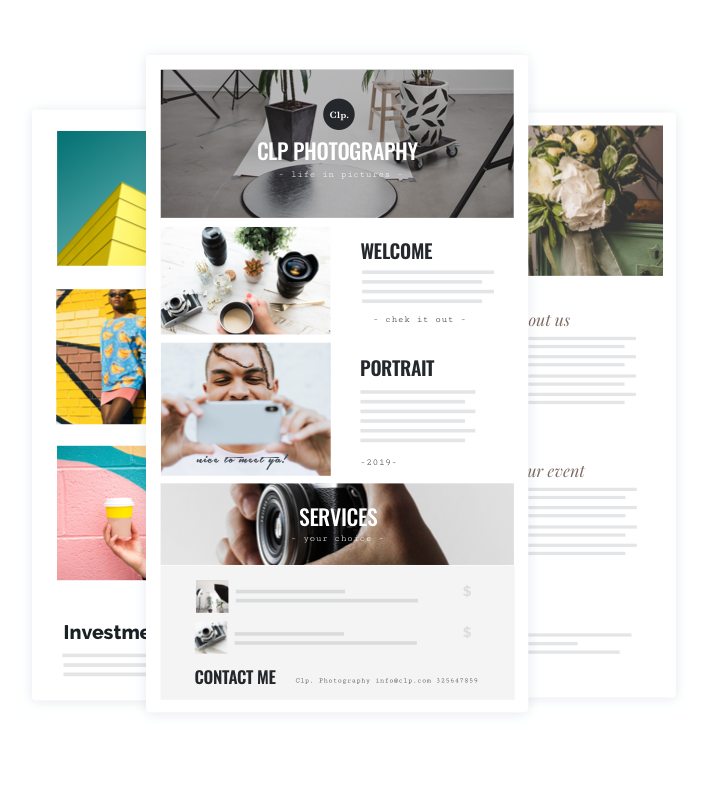 HoneyBook's customizable brochure templates.