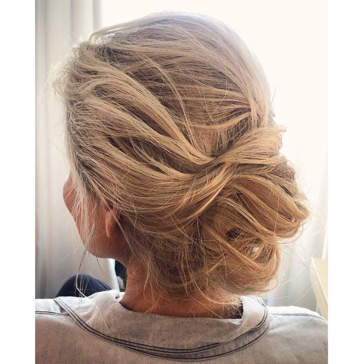 messy brial updo