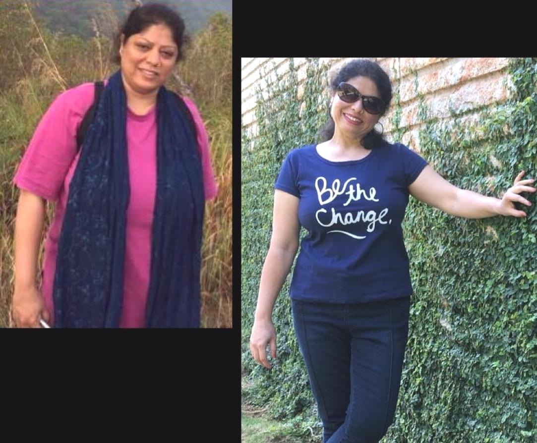 - Thank you Salma for candidly sharing your 'Before' and 'After' pictures. The 'before' was taken a couple of months after joining the practice room.disclaimer: While yoga does help significantly in controlling ones weight by regulating metabolism, the longer-lasting effects are due to yoga's indirect influences on how we make life choices. In addition to cultivating a regular asana practice, Salma has also made significant lifestyle changes in the last two years.