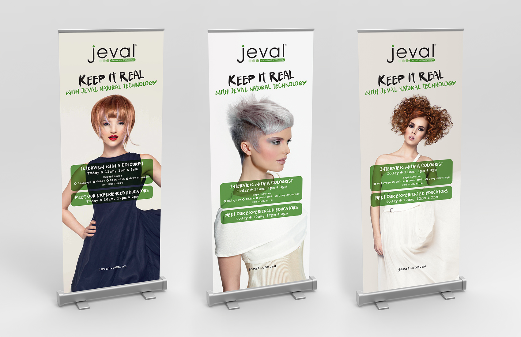 Pull up banners advertising workshop times