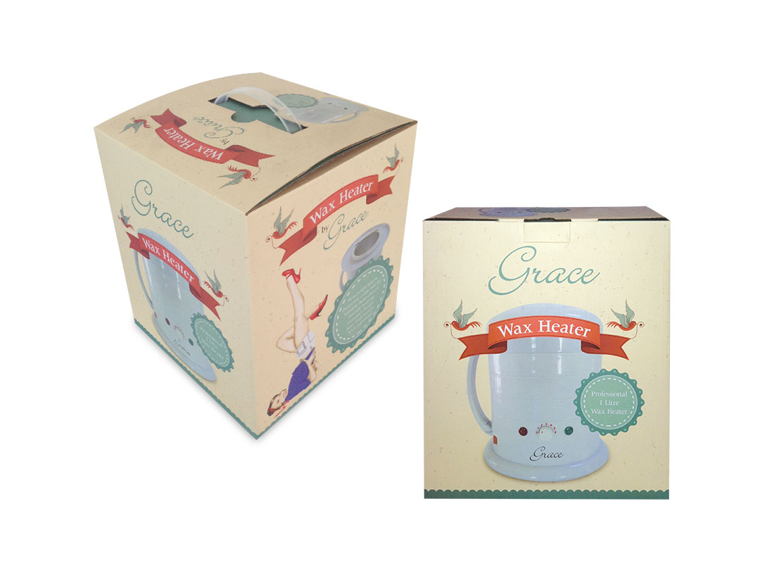 GRACE WAX HEATER PACKAGING DESIGN