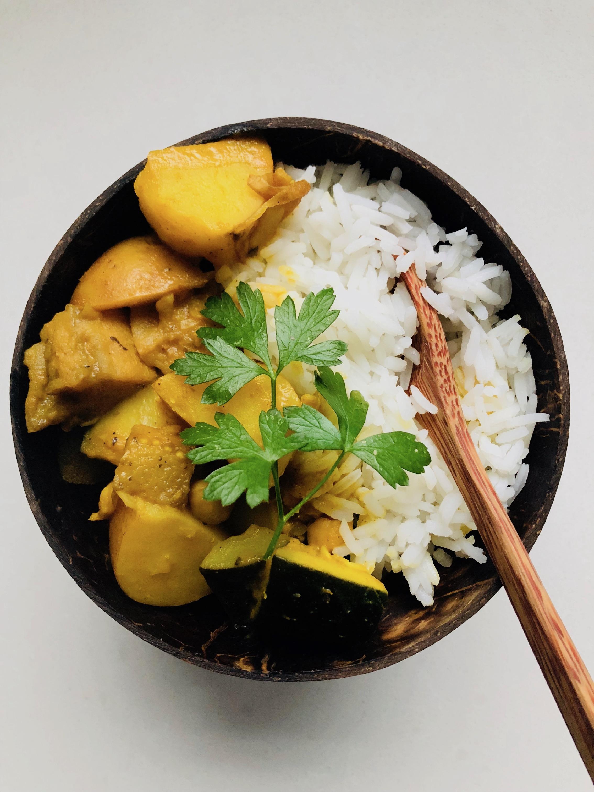 Chickpea Zucchini Eggplant Potato Curry