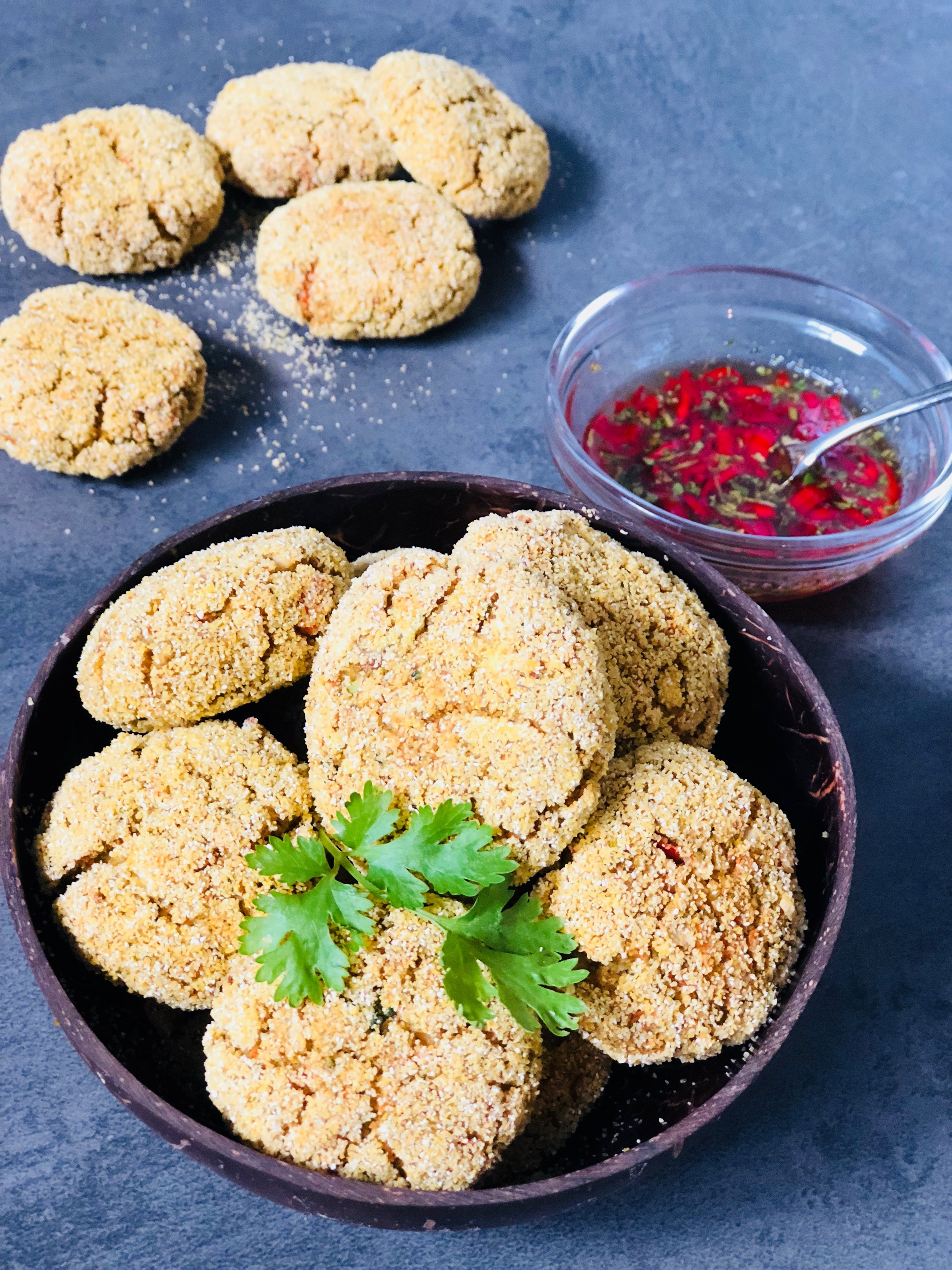 Veggie Nuggets with Sweet Chilli Dipping Sauce