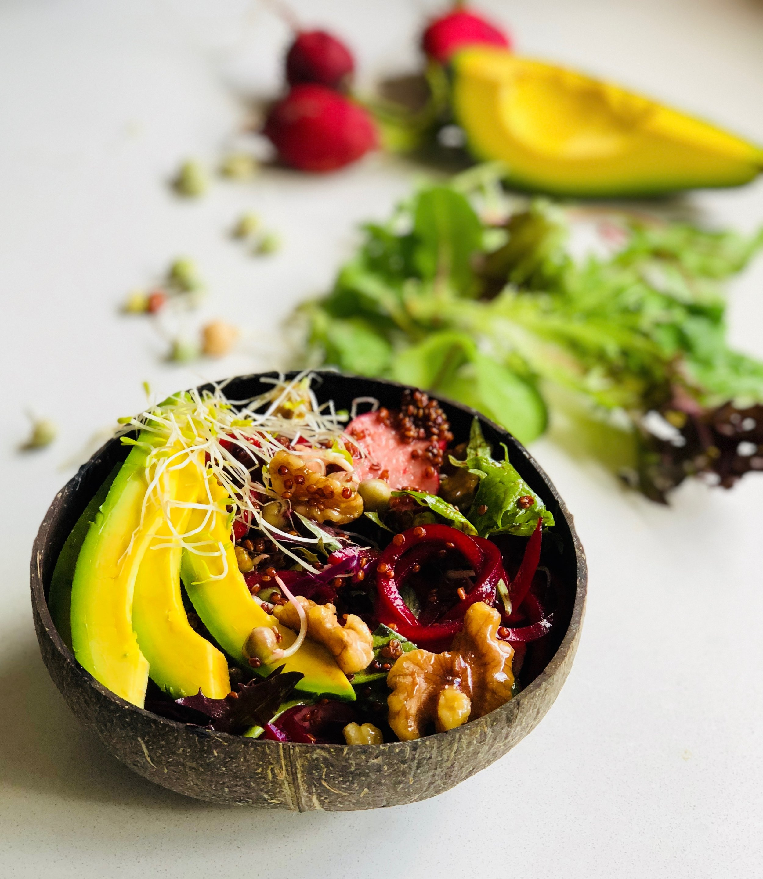 Red Sprouted Superfood Salad