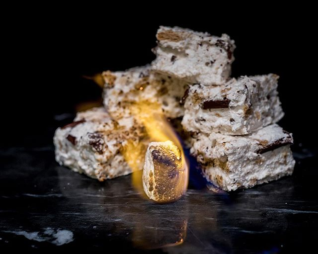 For your next bonfire, ditch the store bought marshmallows for homemade—I folded chocolate and graham crackers right into mine, making for the perfect self-contained s'more! Base recipe from @seriouseats . . . . . #beardedbakerco #beardedbaker #smores #marshmallow #chocolate #grahamcracker #feedfeed #f52grams #hautecuisines #foodblogfeed #foodandwine #eeeeeats #thebakefeed #buzzfeast #huffposttaste #fwx #tastingtable #cookniche #gloobyfood #eattheworld #eatmorecake #cupcakeproject #boostfy #bonfire #dessert